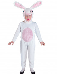Disfarce combinação coelho branco idiota criança