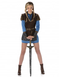 Disfarce viking azul mulher