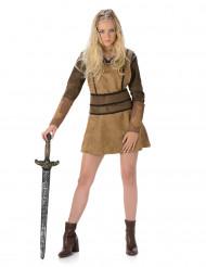 Disfarce viking castanho mulher