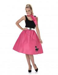 Disfarce dos anos 50 cor-de-rosa mulher