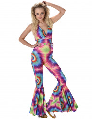 Disfarce combinação hippie psicadélica mulher