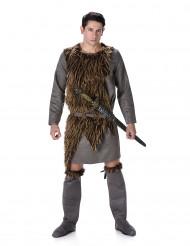 Disfarce viking pele sintética homem