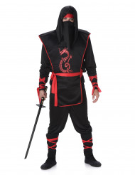 Disfarce Ninja homem preto e vermelho