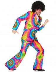 Disfarce hippie psicadélico homem