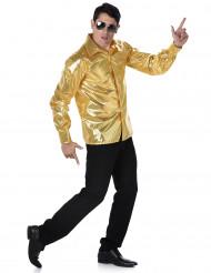 Camisa disco dourada homem