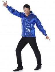 Camisa disco azul homem