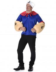 Disfarce marinheiro musculoso para adulto