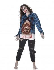 Disfarce zumbi bébé de látex mulher Halloween