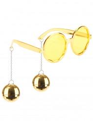 Oculos dourados disco adulto
