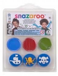 Mini kit de maquiagem submarina oceânica e almofadas Snazaroo™