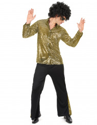 Disfarce disco dourado homem