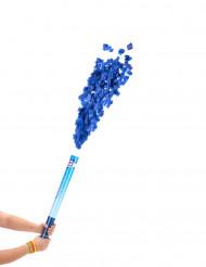 Canhão de confetis azuis 60 cm