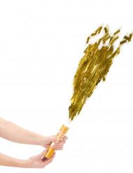 Canhão de confetis dourados 20 cm