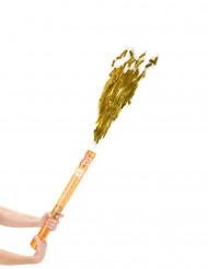 Canhão de confetis dourados 60 cm