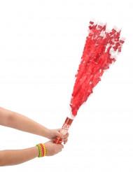 Canhão de confetis vermelhos 20 cm