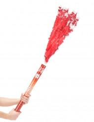 Canhão de confetis brancos vermelhos 60 cm