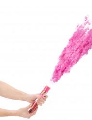 Canhão de confetis cor-de-rosa 20 cm