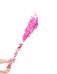Canhão de confetis cor-de-rosa 60 cm