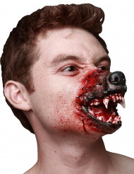 Boca de lobisomem adulto Halloween