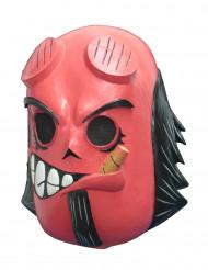 Máscara integral diabo vermelho - Dia dos Mortos adulto Calaveritas™