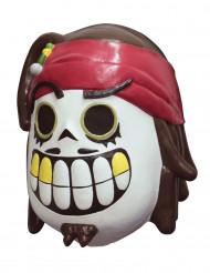 Máscara de piratas dia dos mortos Calaveritas™ - Adulto