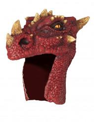 Máscara de dragão vermelho adulto