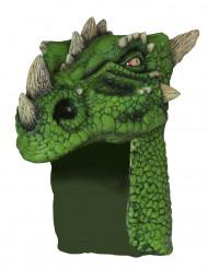 Máscara de dragão verde adulto