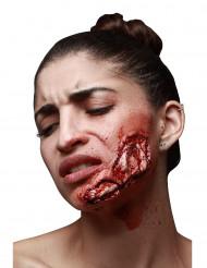 Ferida falsa mandíbula visível adulto Halloween