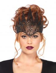Coroa maléfica preta mulher Halloween