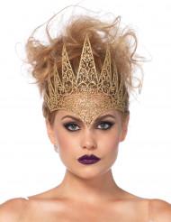 Coroa maléfica dourada mulher Halloween