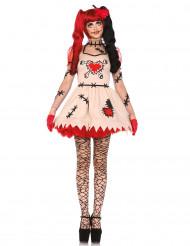 Disfarce de boneca vudu mulher Halloween
