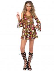 Disfarce hippie flores mulher