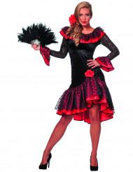 Disfarce dançarina espanhola preto mulher