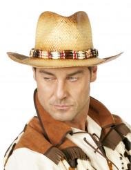 Chapéu de palha aventureiro luxo adulto