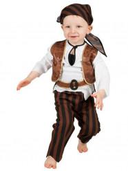 Disfarce pirata castanho bebé