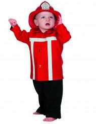 Disfarce bombeiro vermelho bebé