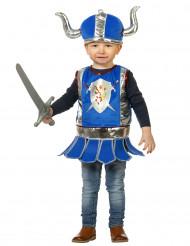 Disfarce pequeno cavaleiro azul bébé