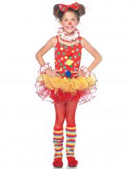 Disfarce palhaço do circo menina