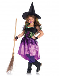 Disfarce de bruxa encantadora menina Halloween