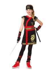Disfarce Ninja do dragão de ouro menina