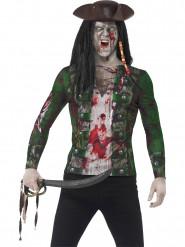 T-shirt pirata zumbi homem Halloween