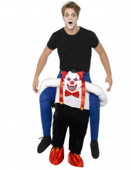 Disfarce homem às costas de um palhaço assassino adulto Halloween