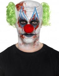 Kit maquilhagem e acessório palhaço sinistro adulto Halloween
