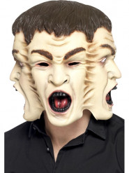Máscara com três caras adulto Halloween