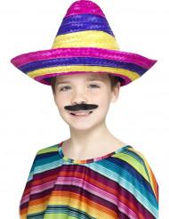 Sombrero colorido criança