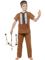 Disfarce índio menino