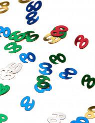 Confetis de mesa coloridos 60 anos