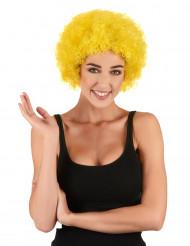 Peruca afro/ palhaço amarela adulto