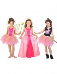 Disfarce 3 em 1 fada princesa pop star menina