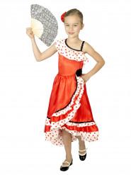 Disfarce dançarina espanhola menina